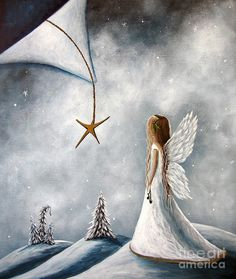 The Christmas Star Original Artwork Art Print by Shawna Erback. All prints are professionally printed, packaged, and shipped within 3 - 4 business days. Choose from multiple sizes and hundreds of frame and mat options.