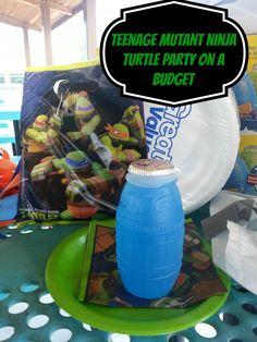 Teenage Mutant Ninja Turtle Party on a Budget #tmnt #party