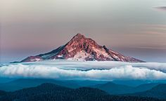 """""""Mount Hood Over Clouds"""" by Hudson Henry."""