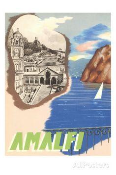 Amalfi, Travel Poster    #TuscanyAgriturismoGiratola