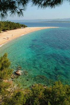 Zlatni Rat beach on Brac island, Croatia: