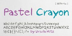 Pastel Crayon font - do in white on black background to look like writing on a chalkboard