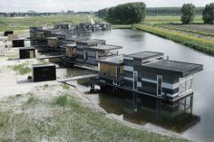 EQUITONE facade panels: EQUITONE facade panels:Floating houses Lelystad