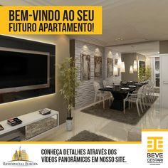 Bem-vindo ao seu futuro apartamento! Conheça detalhes através dos vídeos panorâmicos em nosso site. Acesse: www.beve.com.br
