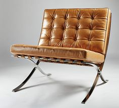 tan leather barcelona chair - Google Search