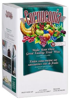Cornucopia Fruit Wine Making Kit, White Pear Chardonnay, 17.5-Pound Box. $48.14