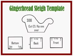 LilaLoa: Gingerbread Sleigh Tutorial and Template