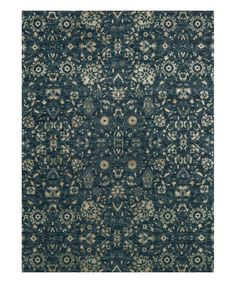 Take a look at this Navy & Beige Abstract Journey Wool-Blend Rug on zulily today!