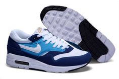 UK Market - Nike Air Max 1 Mens Deep Blue White BabyBlue Trainers