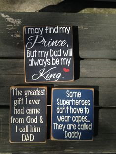 """Father's Day signs or """"just becuz"""" signs for Dad Facebook.com/Dingbatsanddoodles"""