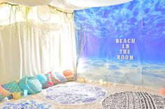 "Feeling Like a Mermaid! Experience Relaxing Yoga at ""Beach in the room"" in Harajuku"