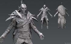 ArtStation - Ordinator, Ann Kurzakova Elder Scrolls Morrowind, Batman, Statue, Superhero, Artwork, Fictional Characters, Ann, Outfits, Work Of Art