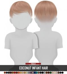Coupure Electrique: Coconut tree infant hair retextured - All About Hairstyles Sims 4 Hair Male, Sims 4 Black Hair, Sims Hair, Male Hair, The Sims 4 Pc, Sims Cc, Lili Marleen, The Sims 4 Bebes, Sims 4 Toddler Clothes
