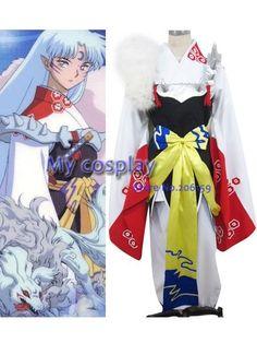 Anime InuYasha Cosplay - InuYasha Sesshoumaru Women's Halloween Party Costume Freeshipping