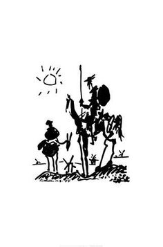 Don Quixote, c.1955 Prints by Pablo Picasso at AllPosters.com
