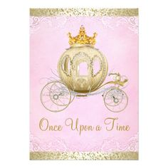 Cinderella Pink Once Upon A Time Princess Birthday Card 15th