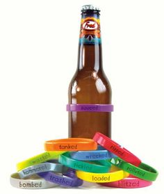 Never lose your beer again ...use beer bands ..