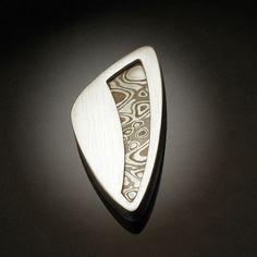 Mokume Brooch | Argentium silver, copper, shakudo, shibuichi… | Revonav | Flickr
