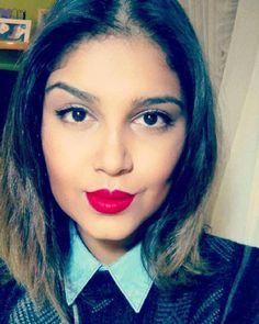 Makeup for a rainy day. #make #beautyblogger #beauty #nicebadgirl #maquiagem #redlips #maccosmetics