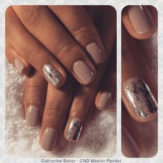 CND Shellac Field Fox with Silver @lovelecente Foil Detail#CND #CNDShellac #shellac #nfmag #nailart #nailenvy #nailaddict #nailsofinstagram #instanail #spring #springcollection #ShowScratch