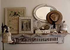 Lovely wall display- I want to remember each detail of this wall display so as to copy for my pink room