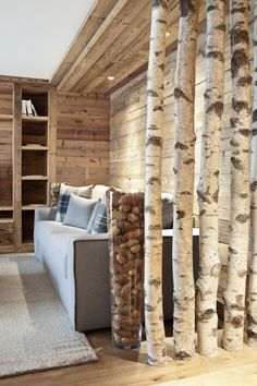Love the use of white birch.  I miss those fragile looking trees of the north where I live now!