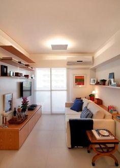 Ideia inspiradora para sala de estar!