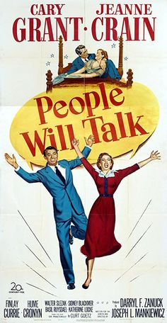Cary Grant and Jeanne Crain in People Will Talk Old Movies, Vintage Movies, Shady Friends, Ann Sothern, Jeanne Crain, Turner Classic Movies, Mini Album Tutorial, Cary Grant, People Talk