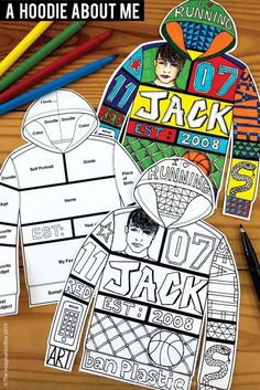All About Me Back To School Fun Art Activity For Middle School Create a unique 'All About Me Hoodie'! This art and writing project is an easy back to school activity for the classroom. A great lesson plan for grade teachers to use as a f Back To School Activities, Art Activities, School Fun, Art School, High School, School Week, Back To School Art Activity, First Week Activities, Health Activities