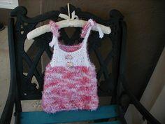 Hand Knit Sun Dress, Baby Sun Dress, Baby Dress, Baby Jumper by bonitastewart on Etsy