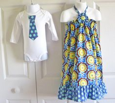 Brother Sister Matching Outfits  Girls by HandmadebyJennBaker, $37.00