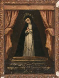 Anónimo madrileño, Virgen de la Soledad de La Victoria de Madrid, óleo sobre tela, 119,3 x 88,3 cm, ca. 1650-1750, colección particular, catalogación: Juan Carlos Cancino.