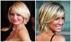 Not ready for a short-short haircut? A short bob is always in style. This cut can be styled soft and voluminous (as seen on Cameron Diaz) or piecey (like on Kristen Cavallari).