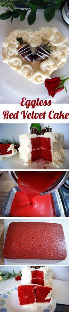 Eggless Red Velvet cake with Cream cheese frosting for the special someone. Surprise your dad with a lovely cake on Father's day.
