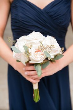 Blush Rose Bridesmaids Bouquet | photography by http://twomaries.com/