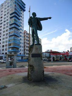 Statue of Elian Gonzalez and Jose Marti, Havana, Cuba   by Chaloos