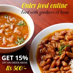 #OrderFoodOnline Food with goodness of home - @homekitchen1  Order today #RajmaChawal at www.home-kitchen.co.in or call us at 96382 62600