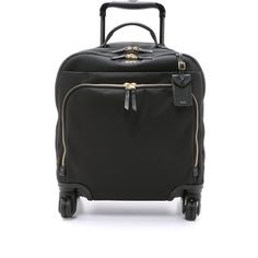 Tumi Oslo 4 Wheel Compact Carry On Luggage (7 530 ZAR) ❤ liked on Polyvore featuring bags, luggage and black