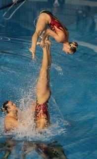 Synchro- and people say this isn't a sport.....they aren't touching the bottom ppl!!