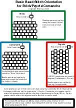 Basics, Bead-Stitch Orientation - how to tell peyote from brick from.....   #Seed #Bead #Tutorials