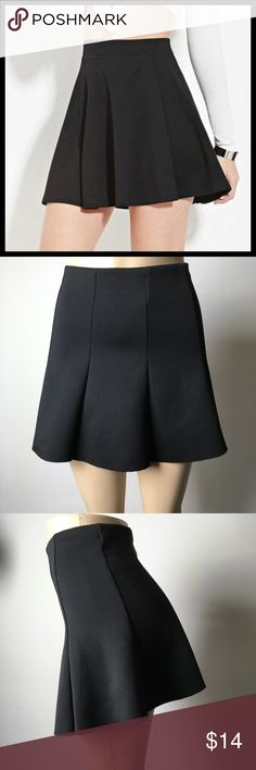 Sexy Flare Little Black Skirt  Sexy little black skirt. It's fabric is actually pretty thick. Some stretch. Great condition. Perfect for summer.  Forever 21 Skirts Mini