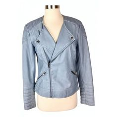 Leather jacket Lovers + Friends Blue size M International in Leather - 12508757 #lifestyle #leatherjackets #fashionblogger #apparel #style #jackets #jacket #outfits #clothing #onlineshipping #fashion #leatherjacket #outwear #costumes #fashionista #coat #in #Blue #12508757 #Friends #International #jacket #Leather #Lovers #size #M # #Leather Red Suede Jacket, Black Leather Vest, Brown Trench Coat, Designer Leather Jackets, Celebrity Outfits, Lovers, Costumes, Clothes, Lifestyle