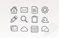 Medialoot - Outlined Basic Vector Icons