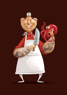 Chef Takô on Behance ★ Find more at http://www.pinterest.com/competing/