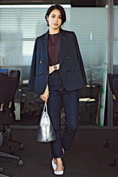 Suit Fashion, Curvy Fashion, Fall Fashion Trends, Autumn Fashion, Korean Casual Outfits, Office Outfits, Office Wear, Office Fashion, Street Fashion