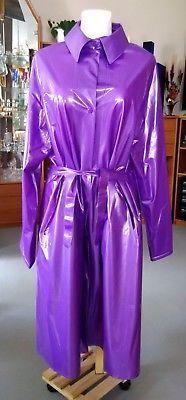 PVC-Mantel, Regenmantel, Raincoat, U-Like, lila, Gr. XL