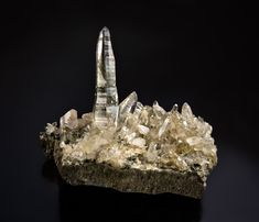 Quartz - Ofenhorn, Binntal, Wallis, Switzerland Size: 14.0 cm