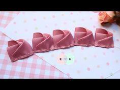 Amazing Ribbon Flower - Hand Embroidery Works - Ribbon Tricks & Easy Making Tutorial - Amazing Ribbon Flower – Hand Embroidery Works – Ribbon Tricks & Easy Making Tutorial – You - Ribbon Flower Tutorial, Ribbon Embroidery Tutorial, Embroidery Works, Silk Ribbon Embroidery, Ribbon Art, Diy Ribbon, Ribbon Bows, Kanzashi Tutorial, Cloth Flowers