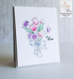 Inspired by Stamping, Nicole Picadura, Tulip Bouquet stamp set, video tutorial, love card
