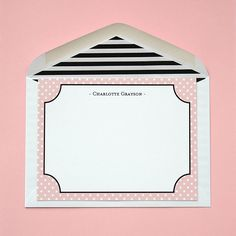 Personalized Flat Cards Pin Spots with Lined by #LetterLoveDesigns
